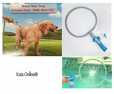360 Degree DOG WASHER Bath Shower Kit Pet Puppy Woof Washer Gently Cleaning Ring