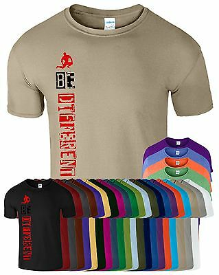 Be Different Mens Gym T-Shirt Workout Fit Bodybuilding Top Tee Workout T Shirt
