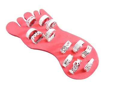 Silver Plated Adjustable Open Toe/midi/finger Rings Choice Of 6 Designs