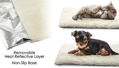 Self Heated Heating Thermal Pet Dog Cat Bed Cushion Mat Washable Super Warm Rug
