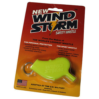 WindStorm Whistle Scuba Diving Safety & Survival ; Wind Storm - Yellow