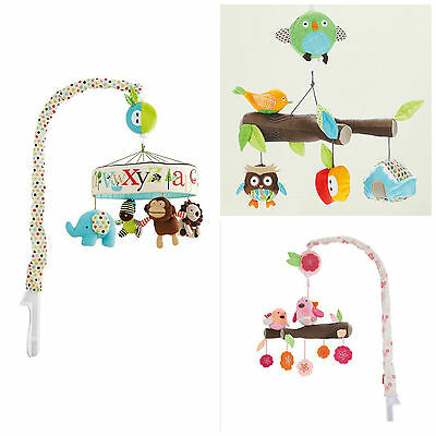 New Baby Nursery Animal Alphabet, Spring time, Owl Musical Cot Mobile