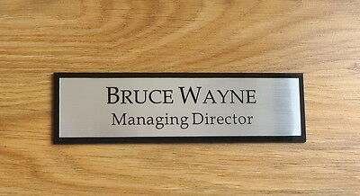 Personalised Office Wall Sign, Door Name Plate, Custom Engraved Plaque, Logo