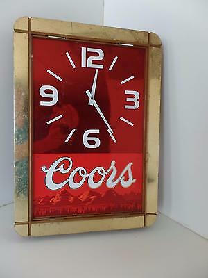 "Thomas A Schultz Coors Battery Wall Clock Gold Red White 12x17""Bar Man Cave Vtg"