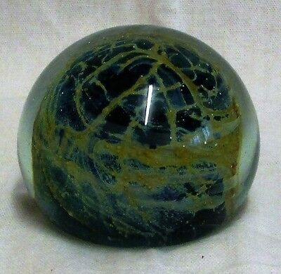 "3"" Vintage Mdina Art Glass Sea & Sands Paperweight"
