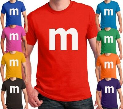 M candy T-shirt Halloween Costume cosplay chocolate group & family M Shirts
