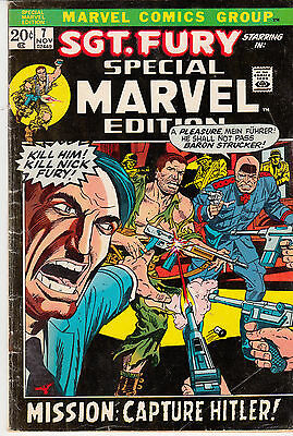 SPECIAL MARVEL EDITION #7 (1972), #8 (1972), #10 (1973) & #13 (1973)all Sgt FURY