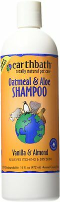 Earthbath Oatmeal and Aloe Itch Relief Pet Shampoo, 472 ml NEW