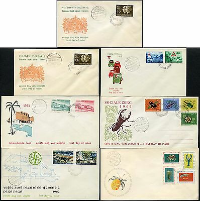 Netherlands New Guinea First Day Covers 1961-62 Illustrated...7 Items