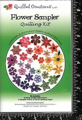 Quilled Creations Flower Sampler Quilling Kit  NEW!!