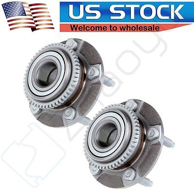 NEW Pair of 2 Front Driver and Passenger Wheel Hub Bearing Assembly For Mustang