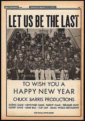 CHUCK BARRIS PRODUCTIONS__Original 1973 Trade AD/ poster__Dating / Newlywed Game