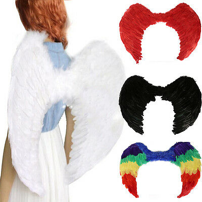 AU Feather Wings Angel Fairy Adults Kids Dress Costume Halloween Party Hen Night