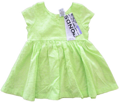 Baby Girls Dress Bonds Newbies Summer Short Sleeves Lime Green Party Play 000