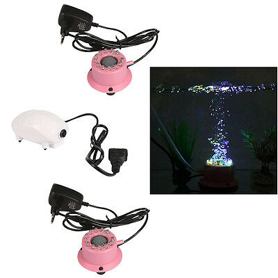 LED aquarium ornament fish Tank Air Bubble Pierre éclairage lumières couleur