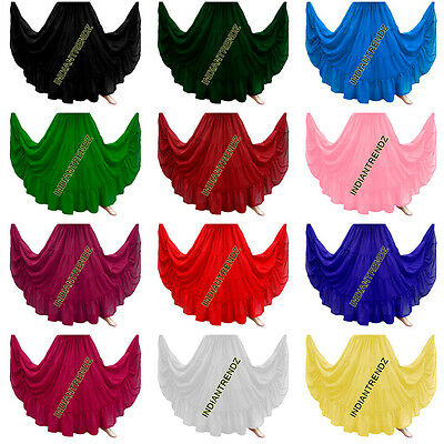 6 Verges 4 Tiered Jupe Belly Dance Skirt Danse Orientale Danse Du Ventre Gypsy