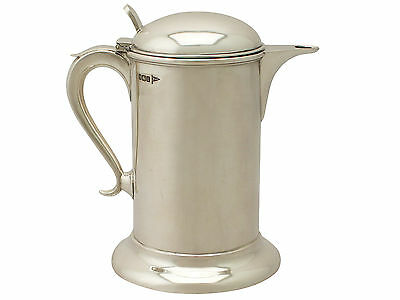 Sterling Silver Lidded Cordial/Water Jug - Antique Edwardian