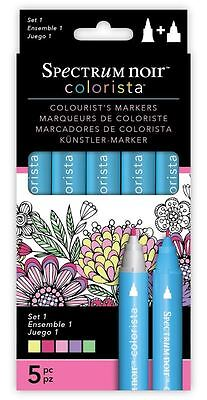 Spectrum Noir - Colorista Arts & Craft Double Ended Marker Pens Set 1 (5 Pack)