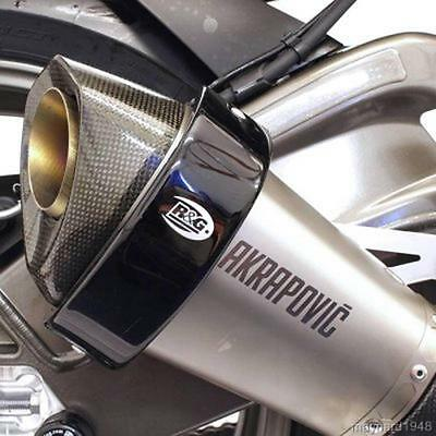 R&G BLACK EXHAUST CAN PROTECTOR for BMW S1000RR with AKRAPOVIC CAN