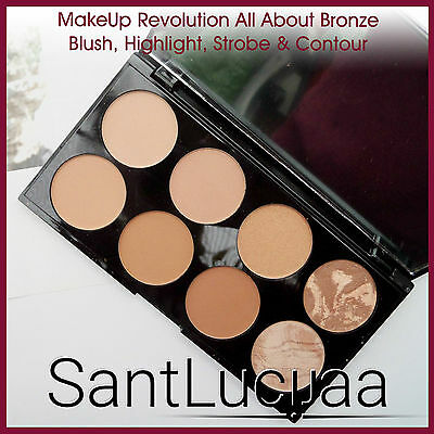 Makeup Revolution Bronzer Palette Contouring Highlighter All About Bronze Strobe