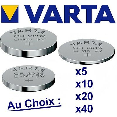 Lot de 1-5-10-20-40 piles VARTA Lithium 3 Volts CR2032 - CR2025 -CR2016 NEUVES