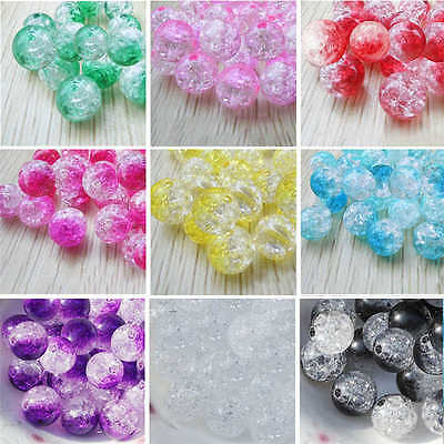 8mm 100pcs Acrylic Round Pearl Spacer Loose Beads DIY Jewelry Making Wholesale