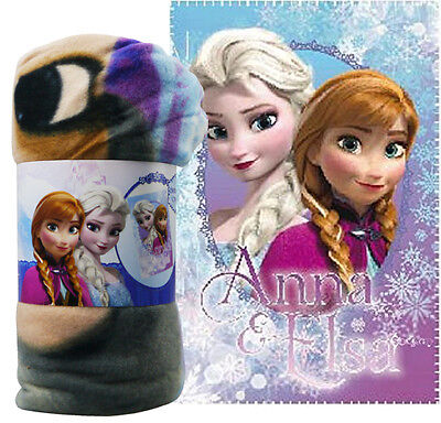 Disney Frozen Princess Anna & Elsa Fleece Blanket Manta Polar Bed Bedroom Throw