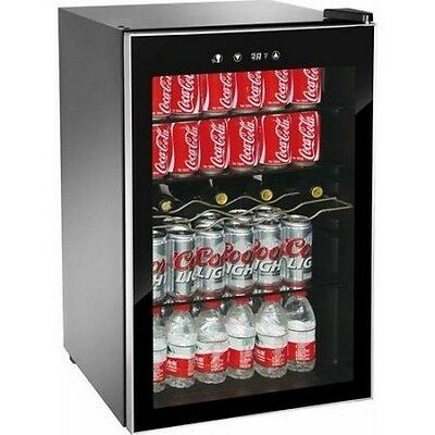 Beverage Refrigerator Cooler Door Air Glass Commercial Fridge Can Soda Mini Beer
