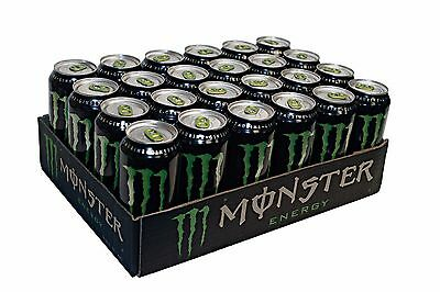 Monster Energy Drink, 16-Ounce Cans (Pack of 24) - Free Shipping! Original Flavo