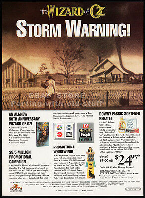 The WIZARD of OZ — 50th Annv.__Original 1989 Trade Print AD promo__STORM WARNING