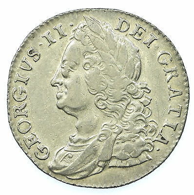 Great Britain, George Ii Shilling, Silver, 1750