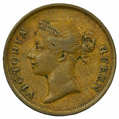Straits Settlements, Victoria Cent, East India Co, Malaysia, 1845