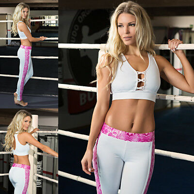 Stretch Leggings Fitness Pink Gym Sportswear Pant Top