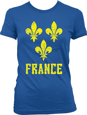 France Symbol French Distressed Country Francaise From Born FRA Juniors T-Shirt