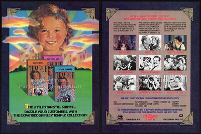 SHIRLEY TEMPLE Collection__Orig. 1989 Trade Print AD movie promo__Industry Only