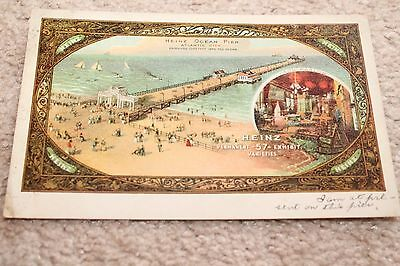 Vintage Heinz 57 Ocean Pier Atlantic City Post Card