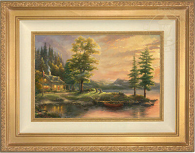 Thomas Kinkade Morning Light Lake 12 x 18 Standard Number Limited Edition Paper