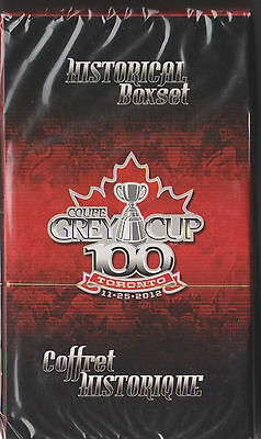 Sealed CFL 100th Grey Cup Historical Boxset 200 Football card Set + Tossing Coin
