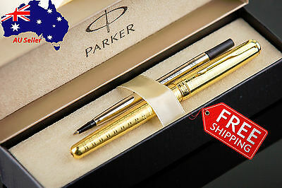 PARKER Premium Quality Luxury all Gold Roller-ball Pen - Boxed+Extra Refill