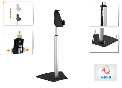 New Black Floor Stand Mount Holder Adjustable Bracket Bed For Tablet iPad Galaxy