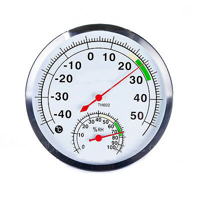 Thermometer Hygrometer Stainless Steel Case Outdoor Thermo-hygrometer -40°C~50°C