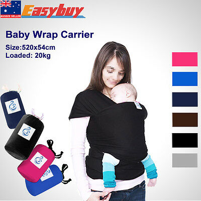 Women Wrap Stretchy Baby Infant Carrier Breastfeed Birth Sling Cotton Backpacks