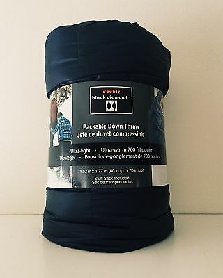 Double Black Diamond 700 FIll Power Down, Packable Blanket, Ultralight, BLUE