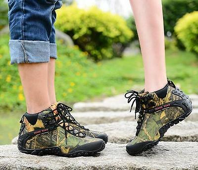 7670 Women's Outdoor Hiking Camping Climbing Shoes Waterproof Camo Ankle Boots