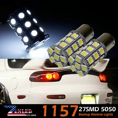 4x 6000K Xenon 1157 BAY15D 27LED SMD 2057 7528 Tail Brake Stop Backup Light Bulb