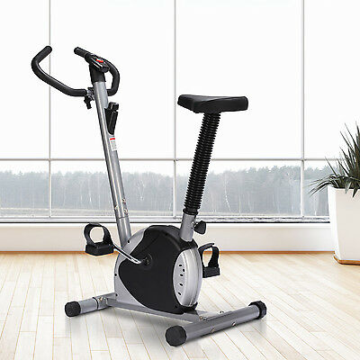 Soozier Belt Exercise Bike Cycling Trainer Fitness Machine Home w/ LCD Black