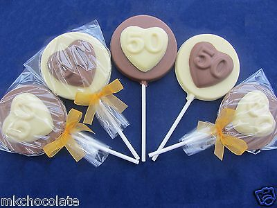 50Th Birthday Heart Chocolate Favours Sweets Party Bag Fillers Present Gift