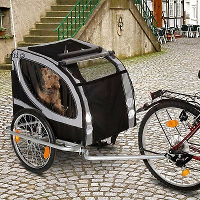 Large Dog  Bike Trailer Dogs Up To 50kg Weather Resistant Deluxe Version