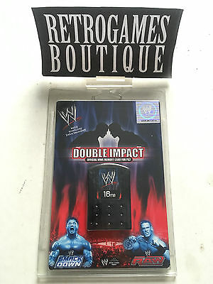 MEMORY CARD 16mb WWE Double Impact - Playstation 2 PS2 - Smackdown Raw - NUOVO!