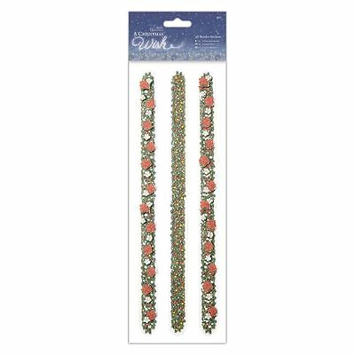 Papermania 3D Scrapbook Craft Border Stickers (3 pieces) - A Christmas Wish